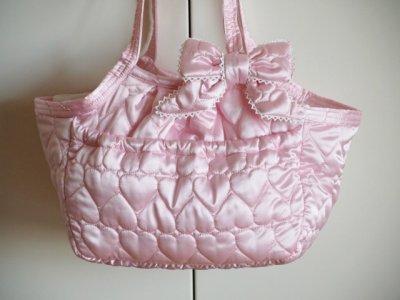 画像1: キャリーバッグG サテンハート Pink