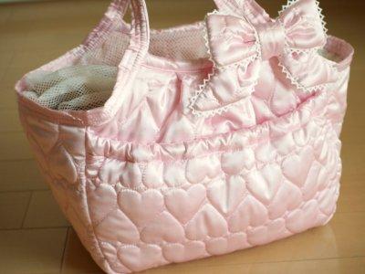 画像2: キャリーバッグG サテンハート Pink
