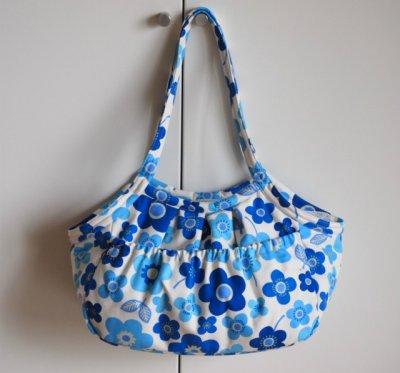 画像2: キャリーバッグG 青い花