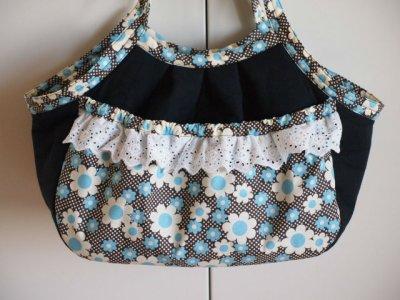 画像1: キャリーバッグ Blueお花