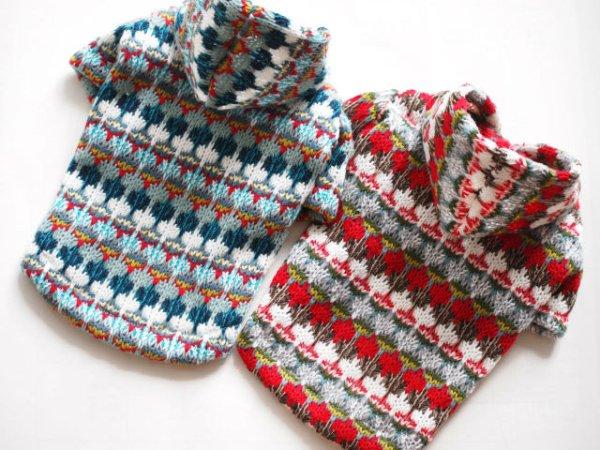 画像1: ざっくり手編み風パーカー (1)