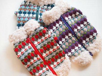 画像2: ざっくり手編み風&ボアセーター