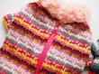 画像2: ジャガード裏起毛 Caldo Borderセーター 背中ジッパー (2)