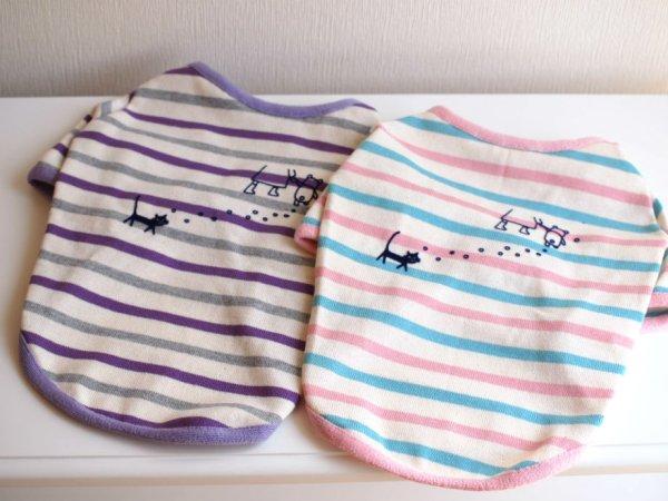画像1: パステルボーダーTシャツ (1)