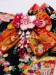 画像4: 京・正絹金彩友禅 花扇に蝶(黒) 振袖スタイル (4)
