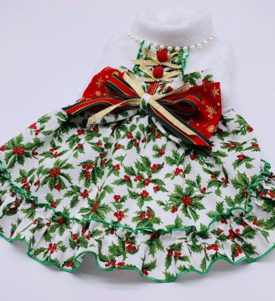 画像1: クリスマス白柊ワンピース (1)