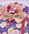 画像2: 京・金彩友禅 八重桜に牡丹菊花(藤) 振袖スタイル (2)