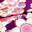 画像8: 犬服/猫服 晴れ着 京友禅 桜に梅(紫) 振袖スタイル (8)