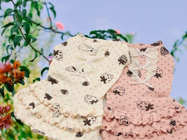 画像1: 苺&ミニドットワンピース (1)
