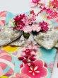 画像4: 犬服/猫服 晴れ着 友禅 手毬に桜橘 (水色) 振袖スタイル (4)