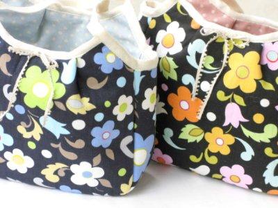 画像1: お花グラニーバッグ
